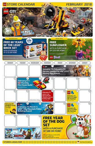 lego february 2018 store calendar promotions events