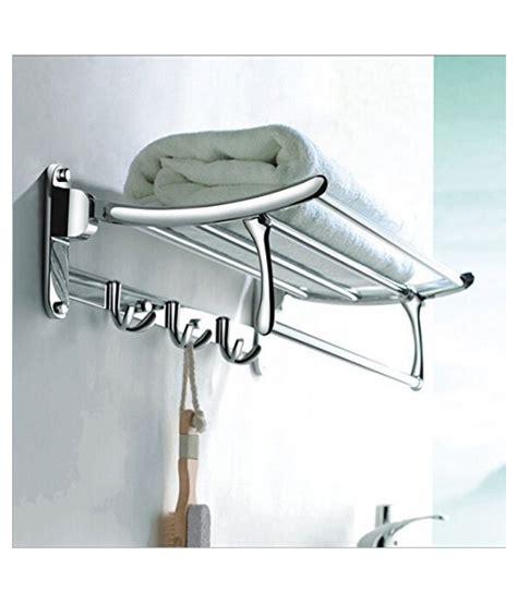 Bathroom Towel Holders Accessories Buy Handy Bathroom Accessories Folding Towel Rack Stainless Steel Towel Rack At Low Price
