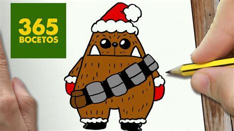 imagenes kawaii de star wars como dibujar un chewbacca para navidad paso a paso