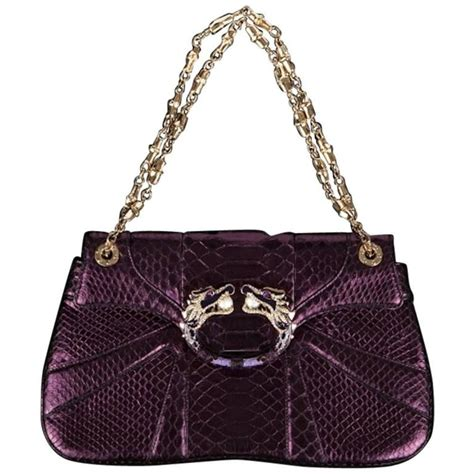 gucci tom ford gucci tom ford fw 2004 pearl jeweled purple python