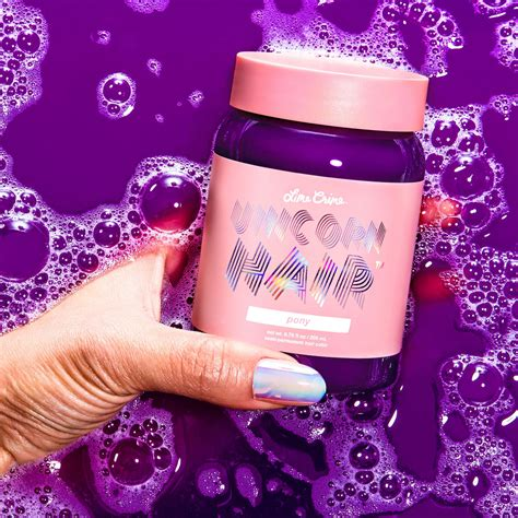 Sprei Unicorn Pink pony bright purple vegan hair dye lime crime