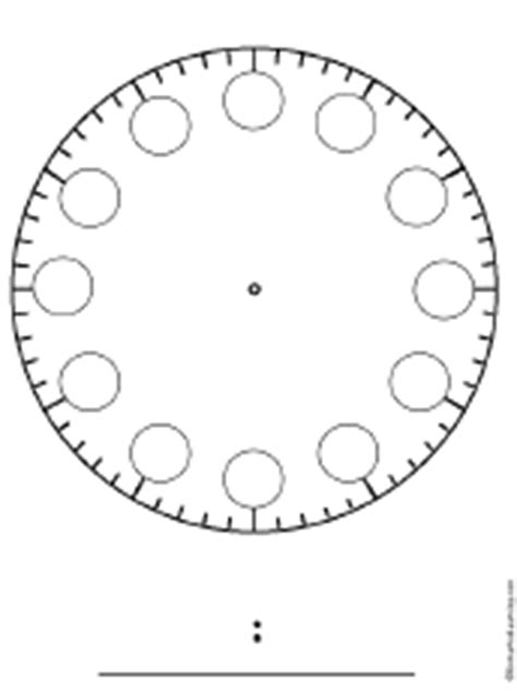 printable clock face no numbers blank clock no numbers circles enchantedlearning com