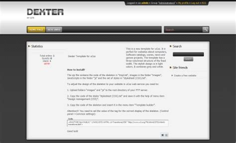 templates for ucoz dexter free ucoz scripts templates free at ucozbaze