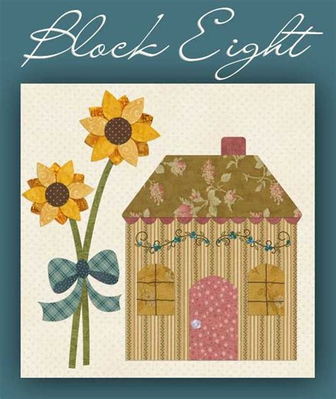 block 8 country cottage shabby fabrics free patterns applique pinterest patterns bonito