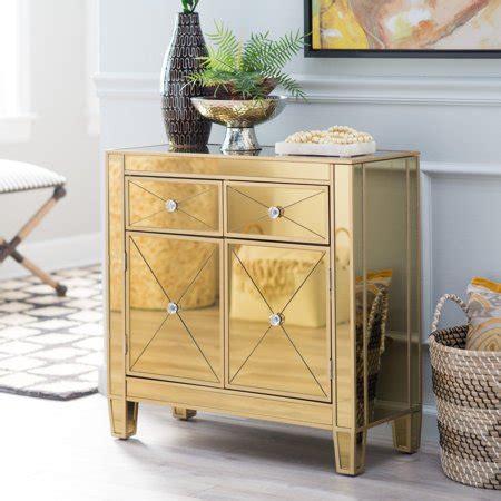 southern enterprises mirrored furniture southern enterprises mirage gold mirrored chest walmart