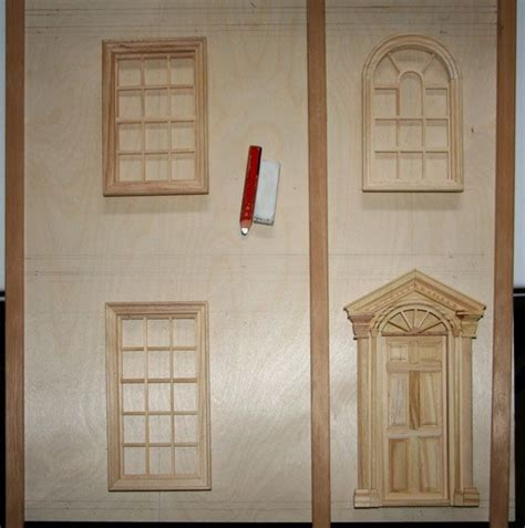 dolls house windows make front opening doors for a dolls house or baby house