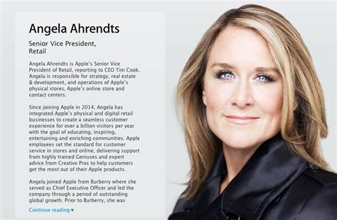 apple s angela ahrendts title is now simply senior vice