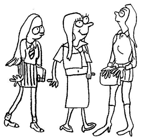 imagenes para dibujar mujeres dibujo de chicas del cole para colorear dibujos net