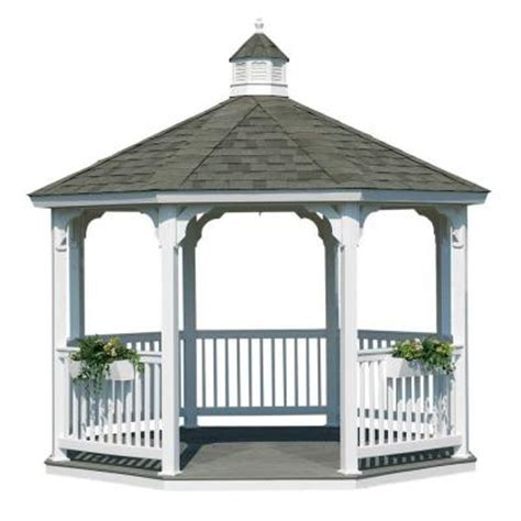 homeplace structures 10 ft vinyl octagon gazebo with