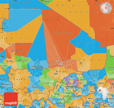 political map of mali political map of mali