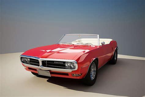 pontiac 1968 models 3d model 1968 pontiac firebird cgtrader