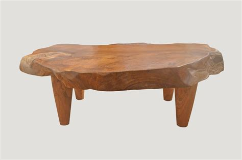 Natural Teak Wood Coffee Table For Sale At 1stdibs Coffee Table Teak Wood