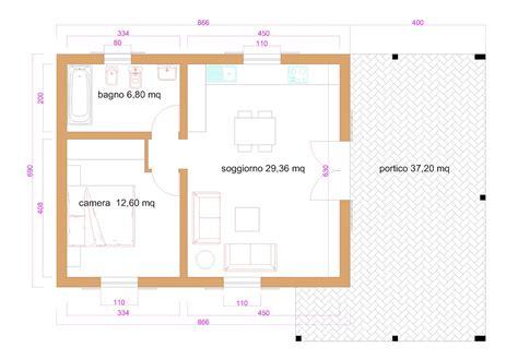 Casa 60 Mq by Progetti Di In Legno Casa 60 Mq Portico 37 Mq