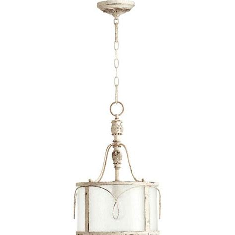 Seeded Glass Pendant Light Quorum International Salento White One Light Pendant With Clear Seeded Glass On Sale