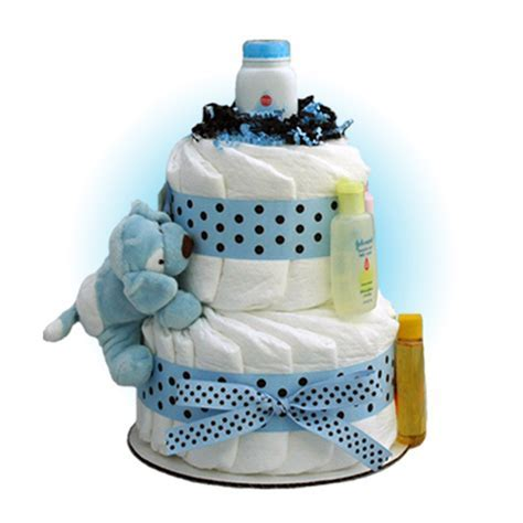 Blue Sparky 2 Tier Diaper Cake