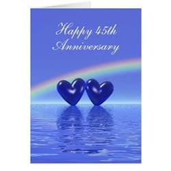 45th anniversary sapphire hearts greeting card zazzle