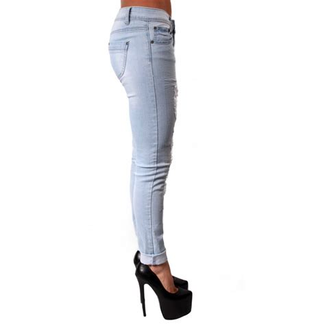 light ripped jeans izzie light blue skinny ripped jeans from parisia