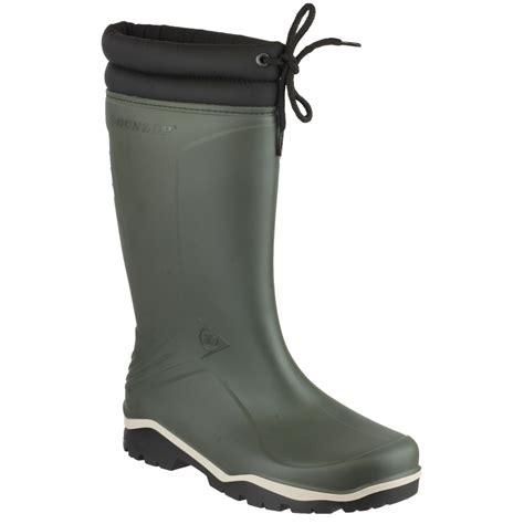 dunlop mens wellington boots dunlop blizzard unisex mens womens fleece lined wellington