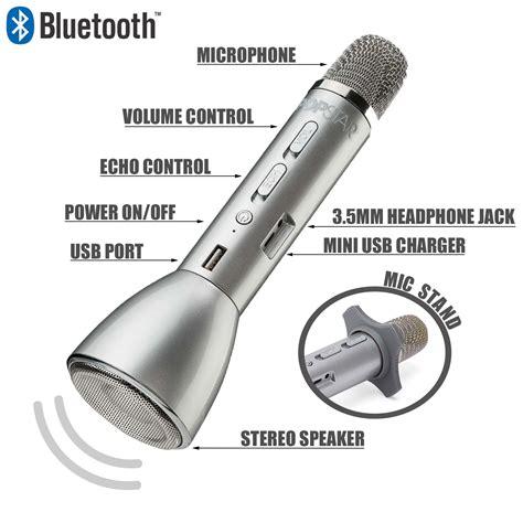 Mic Bluetooth Karaoke Mic Q10 Mic Mic Ktv Wireless Microphone popstar bluetooth karaoke microphone speaker wireless children s singing mic ebay
