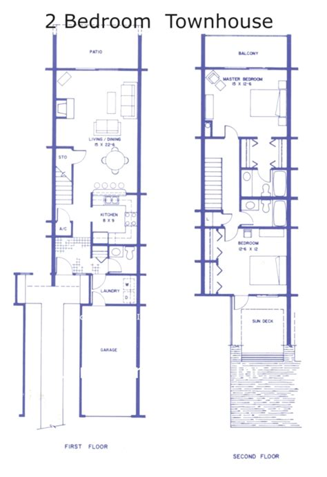 two bedroom townhouse plans floor plan sea winds condos two bedroom townhouses in st
