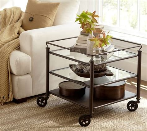 glass tables living room glass side tables for living room with wheel decolover net