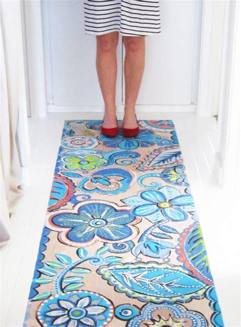 how to paint a rug on the floor alisaburke painted wood floor