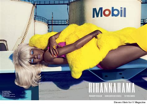 rihanna goes topless and flashes booty in v magazine says rihanna goes topless and flashes booty in v magazine says