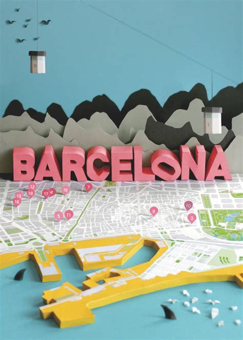 Map Craft Paper - barcelona 3d papercraft city map by h 228 rlin