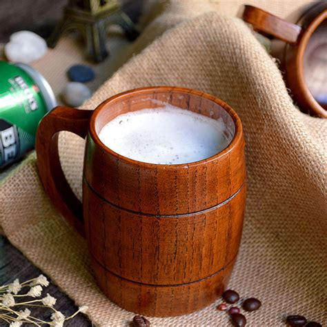 To Handcrafted Beers Made In Local Breweries - homestia handmade jujube wood wooden mugs souvenir