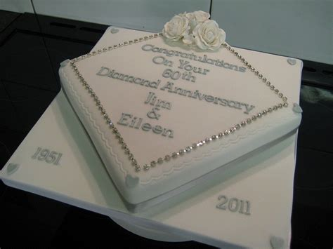 My Cakediamond 60th anniversary cake 60th wedding anniversary diamonds cakes and