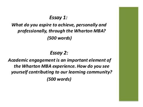 Wharton Mba Application by U Penn Wharton Mba Application Essay Topics 2013 14
