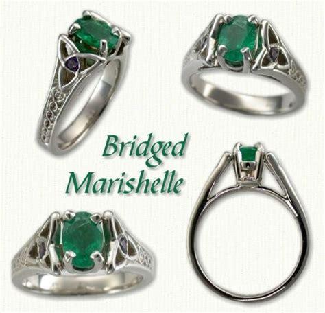 bridged marishelle celtic gemstone rings custom celtic