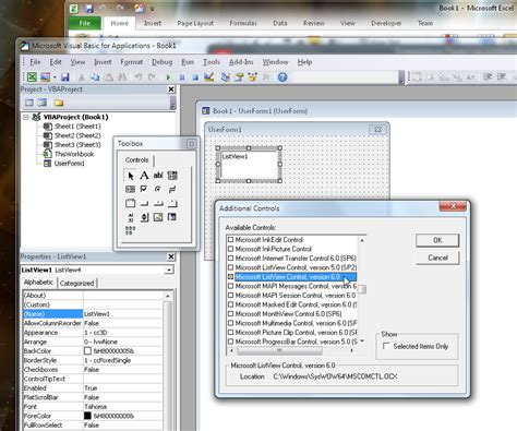 listview layout template exle excel vba exles colomb christopherbathum co