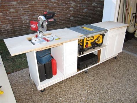 build a table saw bench recycling old furnitures 1 recycling a built in desk to