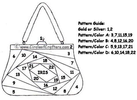 iris folding circleofcrafters com handbag pattern