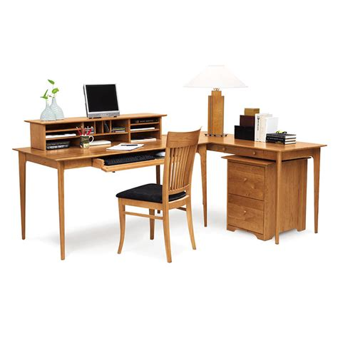 Large Desk Organizer Solid Cherry Wood Desk With Organizer Custom Made In Usa
