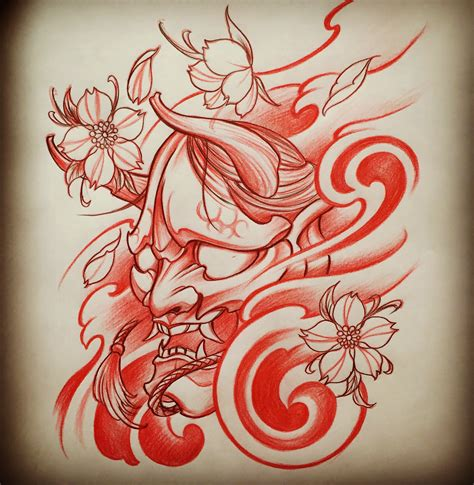 asian tattoo design amsterdam 1825 kimihito hannya mask japanese style