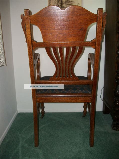 antique oak dining room chairs antique tiger oak dining room set large antique tiger