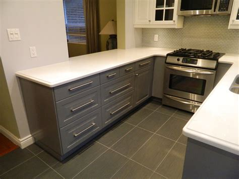 Backsplash With White Kitchen Cabinets by Ikea Kitchens Lidingo Gray And Lidingo White