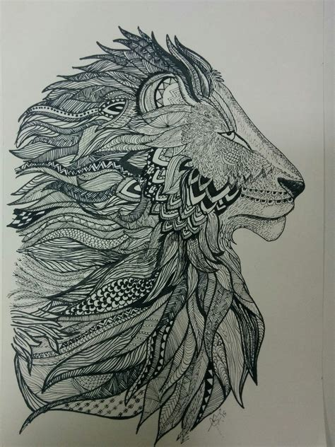zentangle lion zentangle spiratie pinterest lion zentangle my zentangles pinterest lions