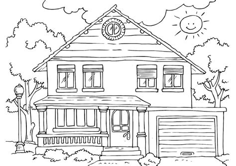 coloring pages house free printable house coloring pages for