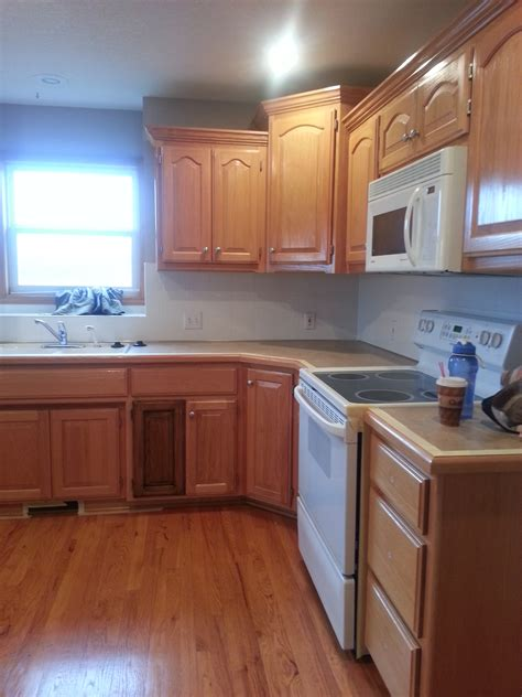 Restain Kitchen Cabinets Cabinet Restaining The Magic Brush Inc Allwood Decorative Painter Diy