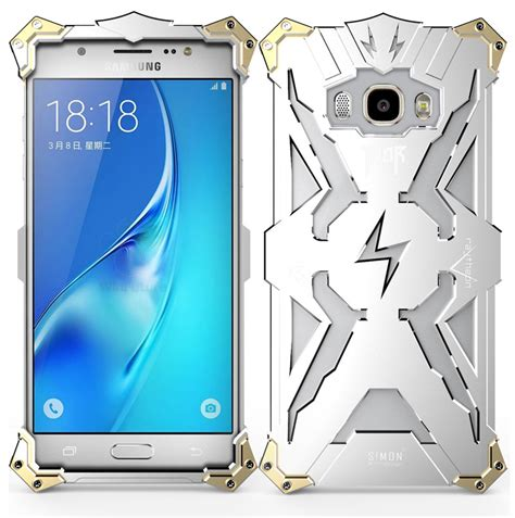 Simon Thor Ii Bumper Iron For Samsung S7 Edge Black simon thor aviation aluminum alloy shockproof armor metal cover f armor king