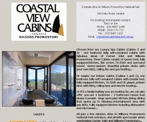 Coastal View Cabins Wilsons Prom by Coastalviewcabins Au Coastal View Cabins Yanakie