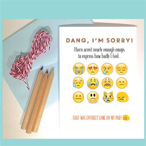 Apology Letter Gift Card Sorry Card Apology Card I M Sorry Note Card Emoji