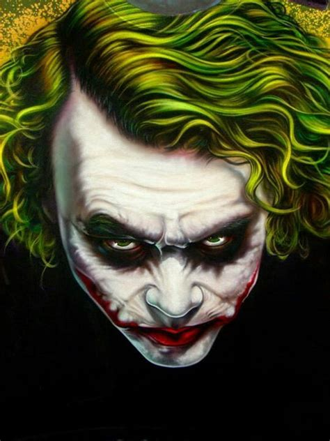 joker jt tattoo airbrush joker design joker heath ledger art