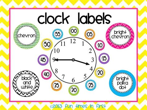 free printable clock labels 809 best bright colored classrooms decor images on
