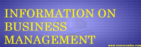 Information Management Mba by Career In Business Management Archives Coursesmba