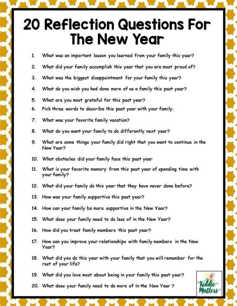 questions related to new year 20 family reflection questions to discuss for the new year