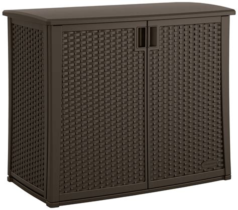 Deck Storage Cabinet Outdoor Cabinet Storage Pool Deck Patio Balcony Lawn Equipment Supplies 97 Gall Ebay